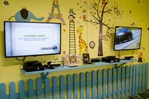 Xbox 360 eraldi ruumis.